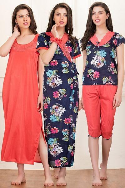 5 Pc Nightwear Set in Blue